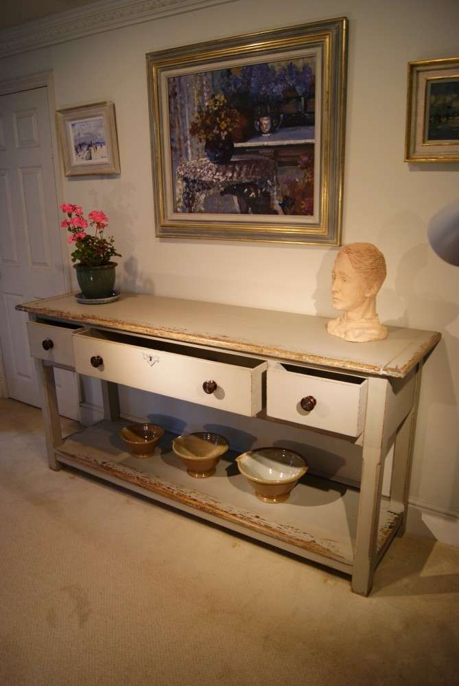 Painted Reclaimed Pine Dresser Base Console Table2