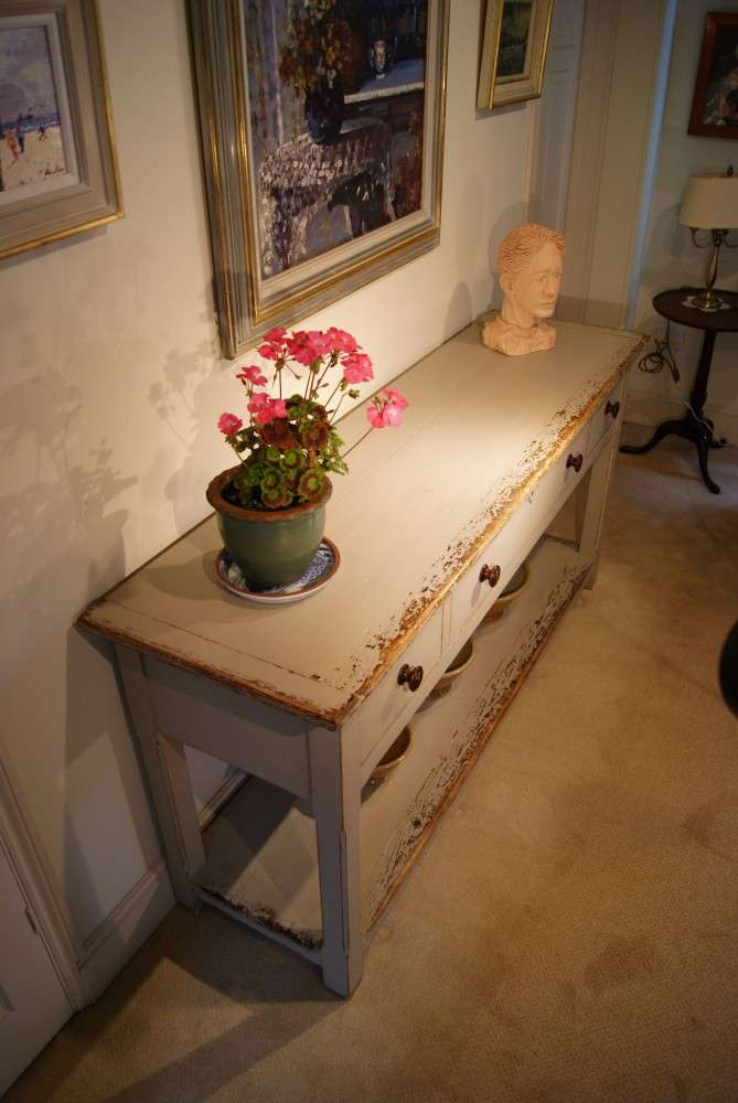 Painted Reclaimed Pine Dresser Base Console Table5