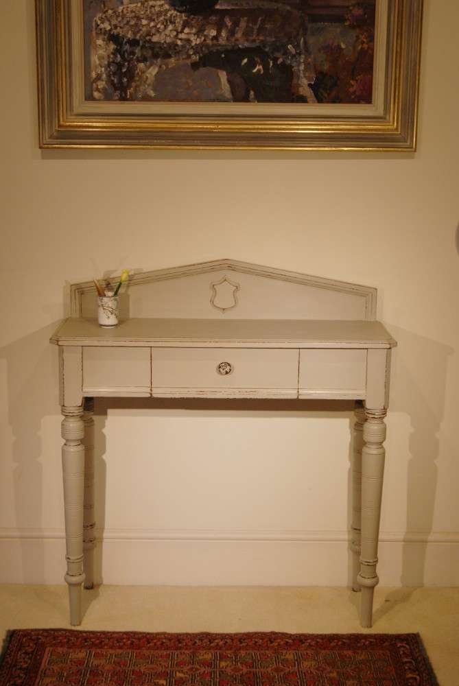 Late Victorian Painted Mahogany Console Table