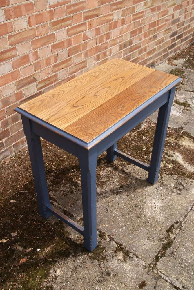 Late Victorian Painted Oak Side Table4