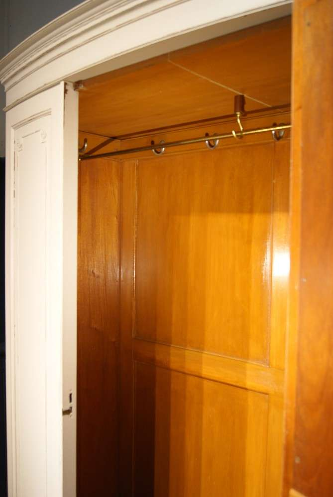 Edwardian Painted Mahogany Bow Front Wardrobe3