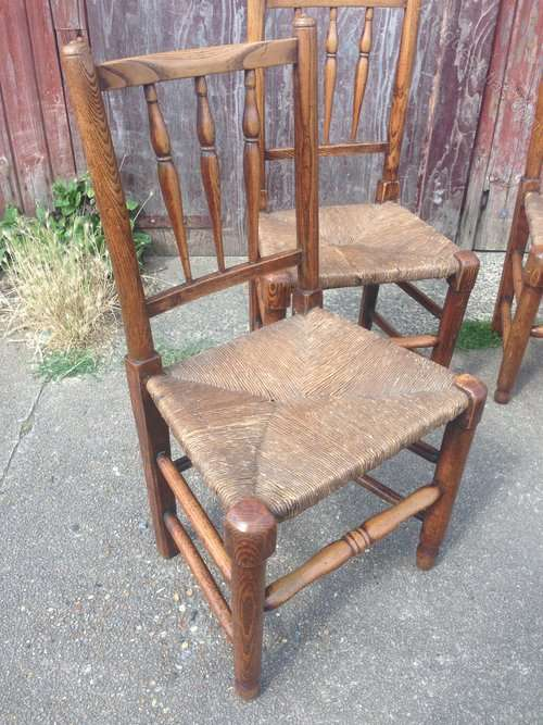 Early 19th Century Elm Spindle Back Chairs
