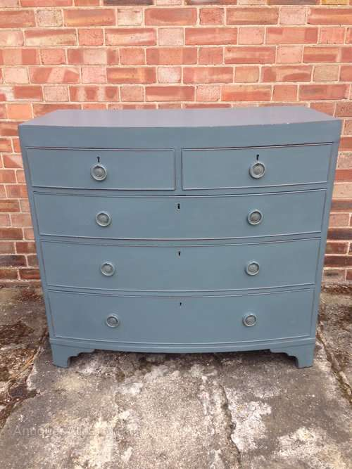 Early 19th Century Painted Mahogany Chest