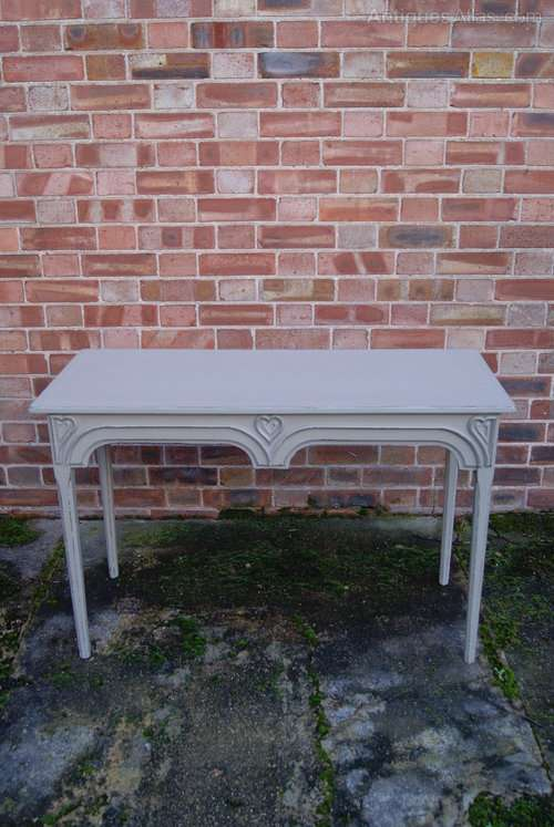 Early Victorian Painted Consul Valentine Table