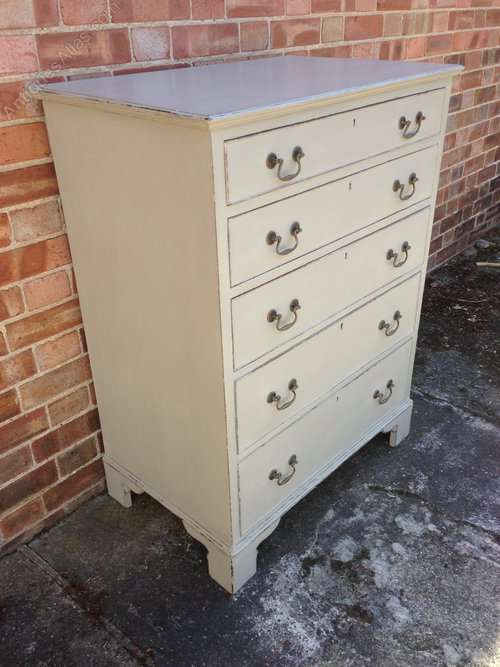 Edwardian Mahogany Painted Chest Of Drawers