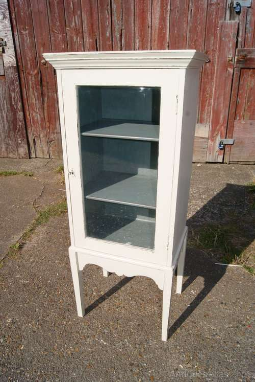 Edwardian Painted Mahogany Display Cabinet
