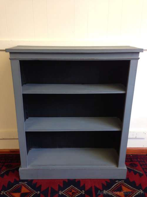 Edwardian Painted Mahogany Open Bookcase