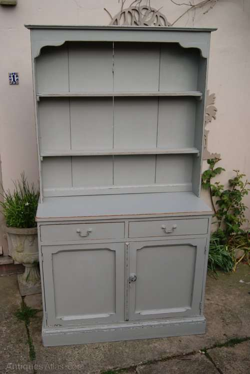 Edwardian Painted Oak Cottage Dresser
