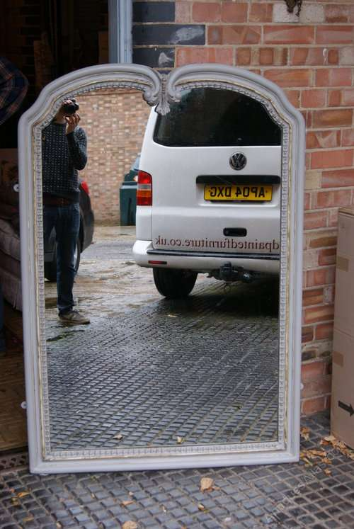 Impressive Late 19th Century French Painted Mirror