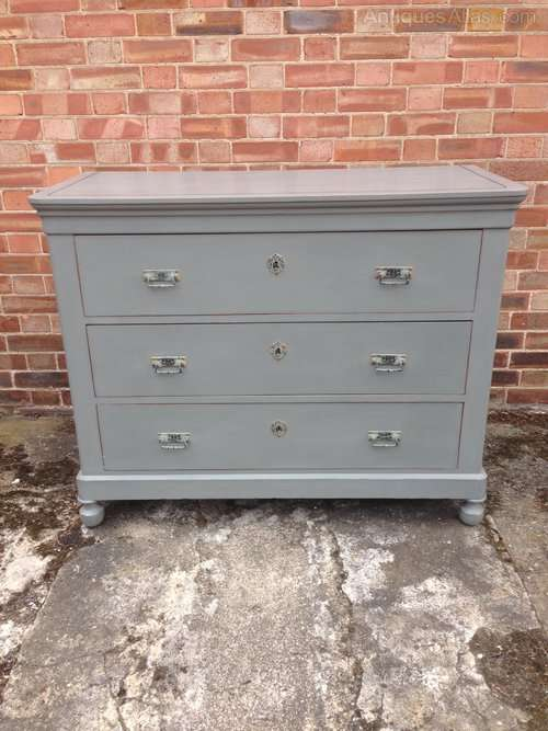 Late 19th Century French Painted Chest Of Drawers