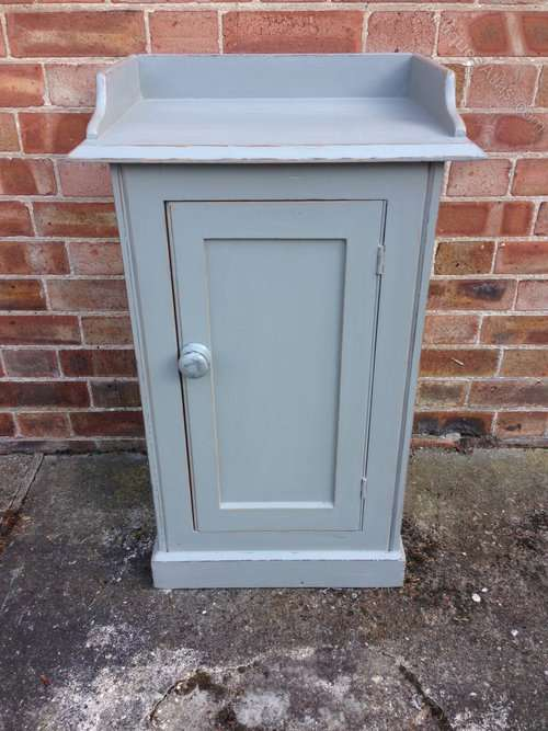 Victorian Painted Pine Pot Cupboard