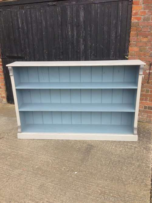 Victorian Painted Pine Large Bookcase Shelves