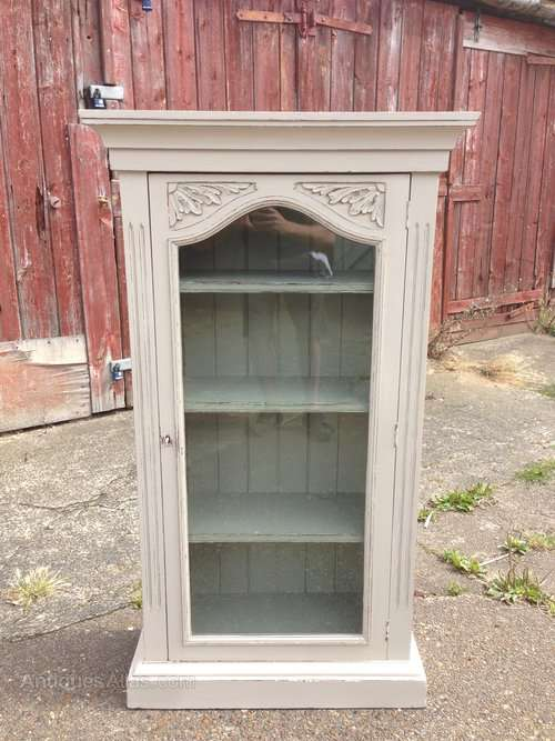 Late Victorian Painted Glazed Cupboard