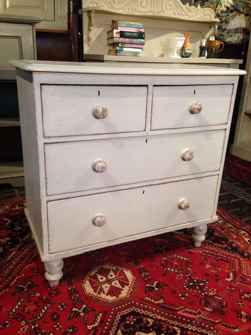 Late Victorian Painted Pine Chest