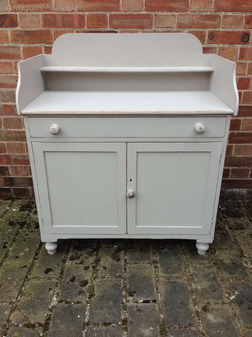 Late Victorian Painted Pine Cupboard