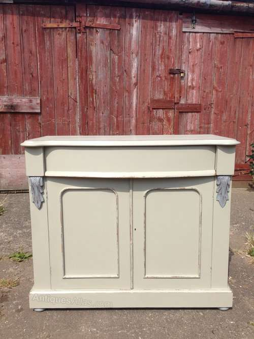 Mid 19th Century Painted Mahogany Chiffonier Base