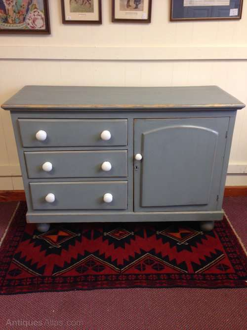 Mid 19th Century Painted Pine Dresser Base