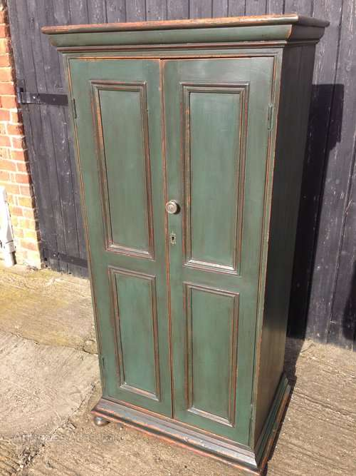 Victorian Painted Pine School Cupboard
