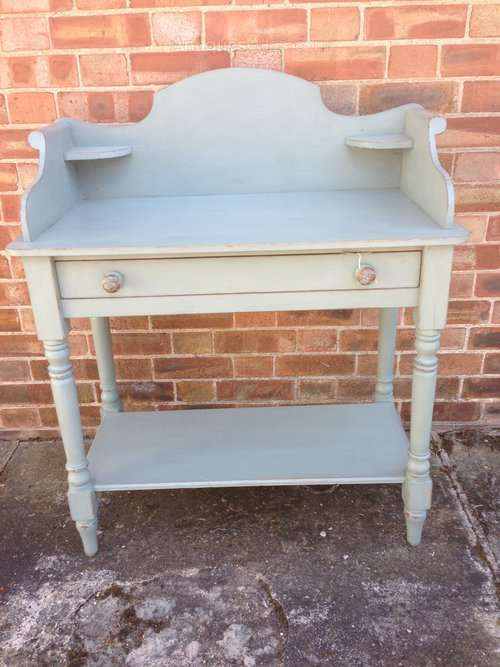 Mid 19th Century Painted Pine Wash Stand