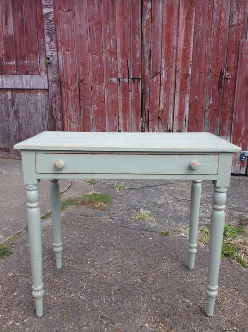 Mid Victorian Painted Pine Side Table