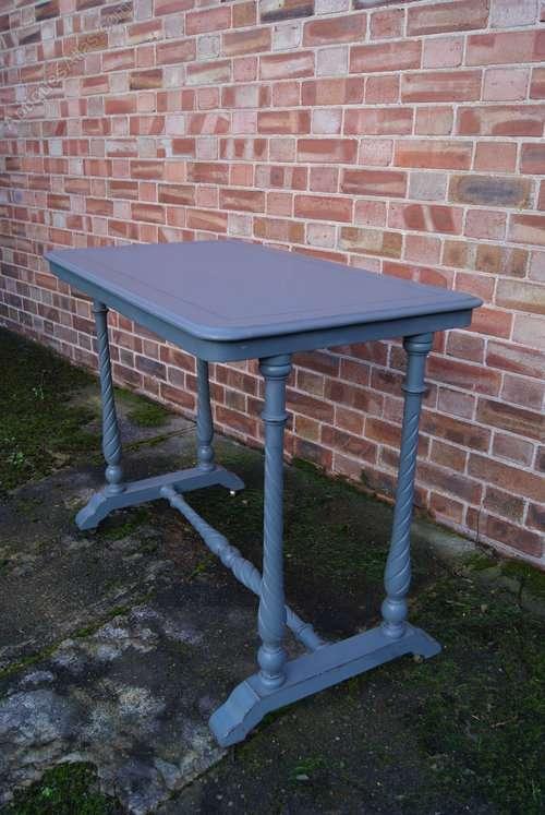 Mid Victorian Painted Mahogany Table1