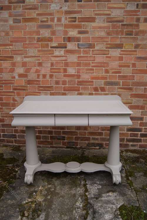 Mid Victorian Painted Mahogany Wash Stand