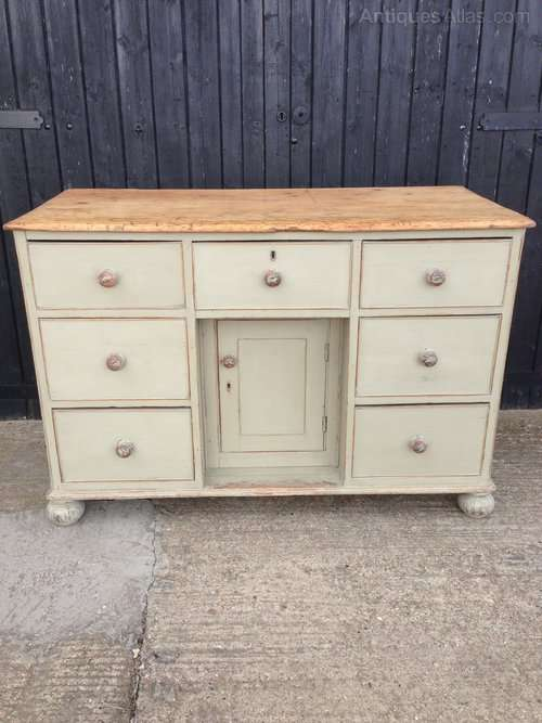 Victorian Painted Pine Dresser Base