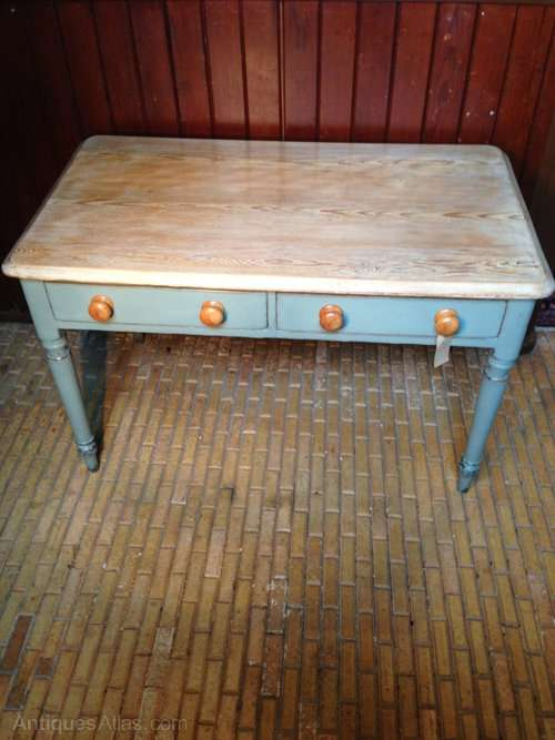 Victorian Painted Pine Scrubbed Table