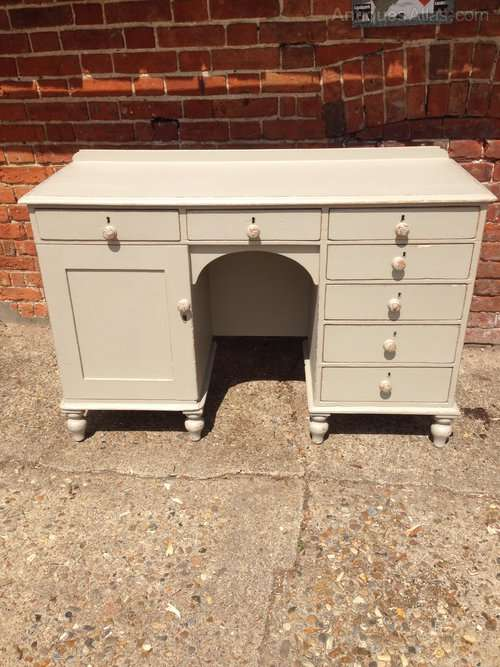 Mid Victorian Painted Pine Desk