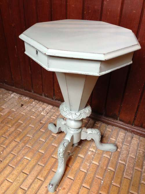 Victorian Painted Walnut Tripod Table