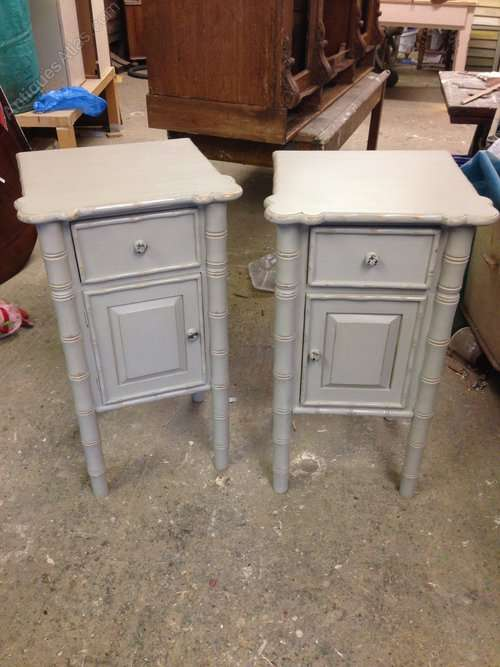 Painted Pine Bedside Tables Cupboards