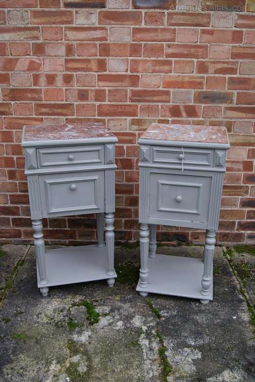 Pair Of Late 19th Century Painted Bedside Cabinets