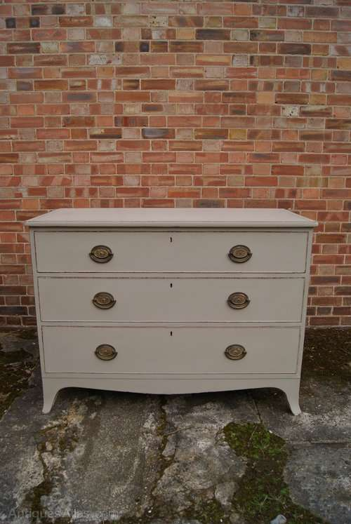 Regency Painted Mahogany 3 Drawer Chest