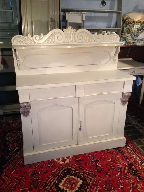 William IV Painted Mahogany Chiffonier
