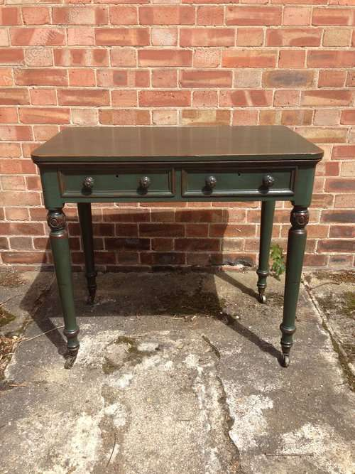 WIlliam IV Painted Oak Writing Desk Table