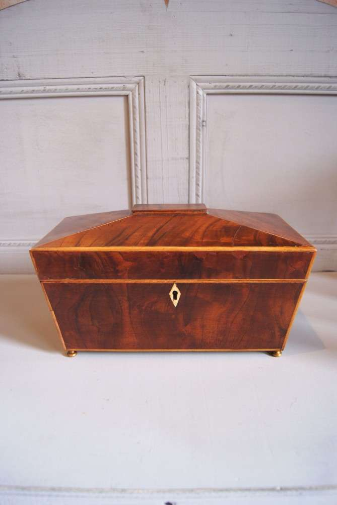 Early 19th Century Inlaid Mahogany Tea Caddy