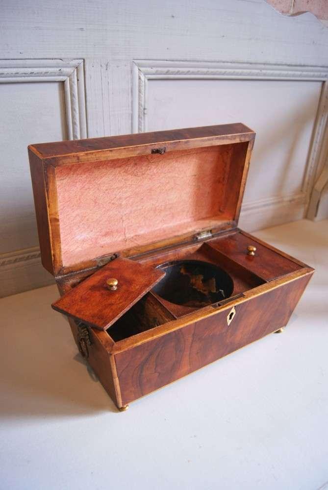 Early 19th Century Inlaid Mahogany Tea Caddy1