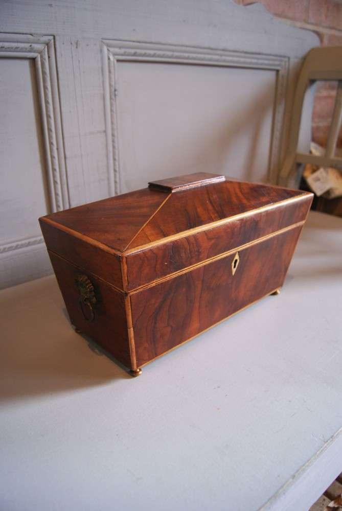 Early 19th Century Inlaid Mahogany Tea Caddy2