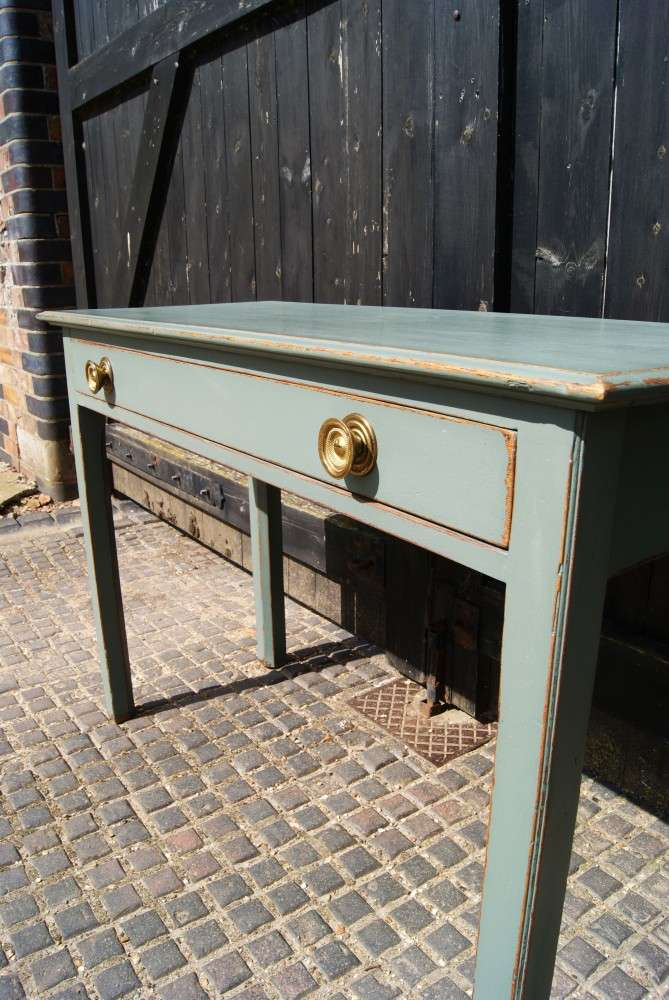 Victorian Painted Oak Side Table 3