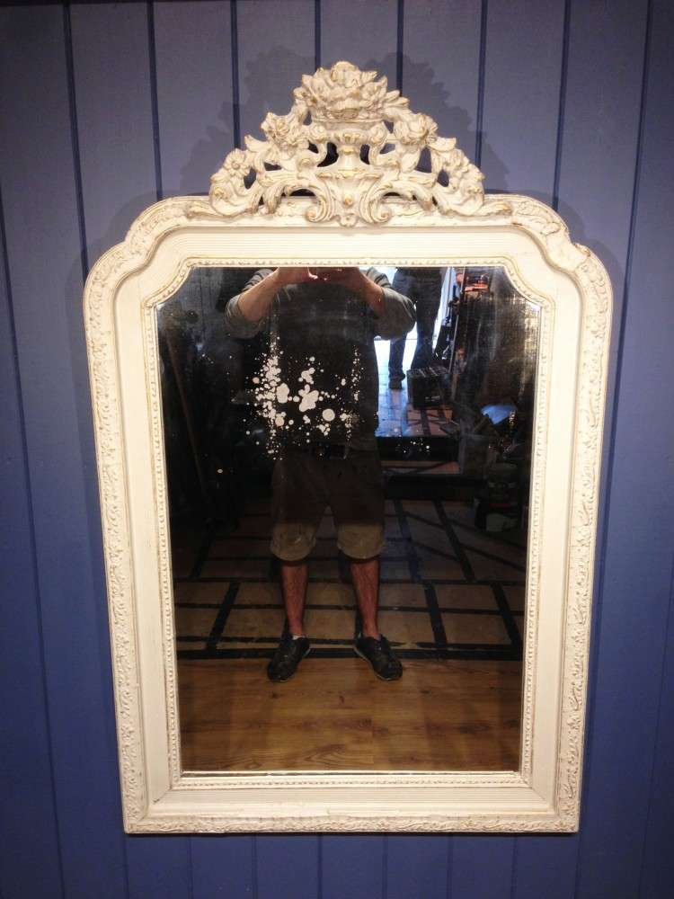 Victorian French Painted Gilt Mirror