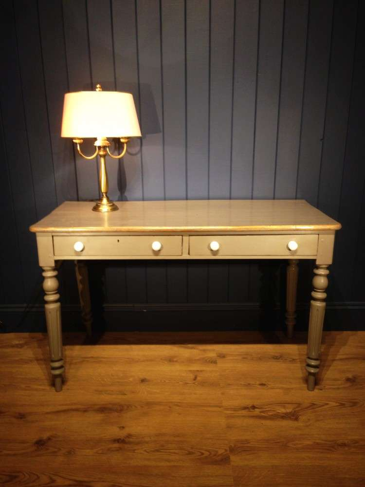 Mid Victorian Painted Dressing/Writing Table