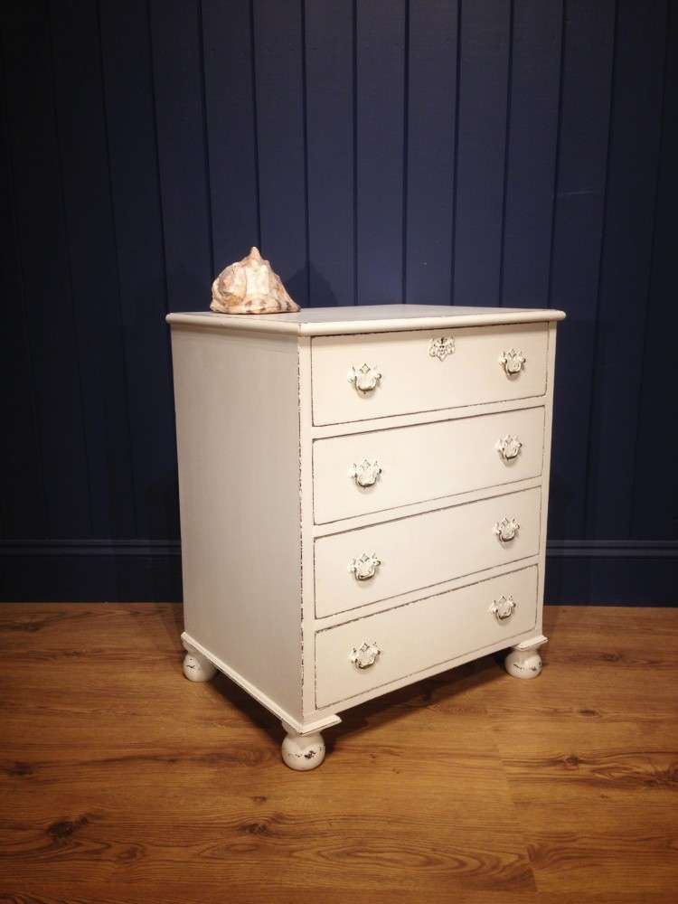 Mid Victorian Painted Mahogany Chest1