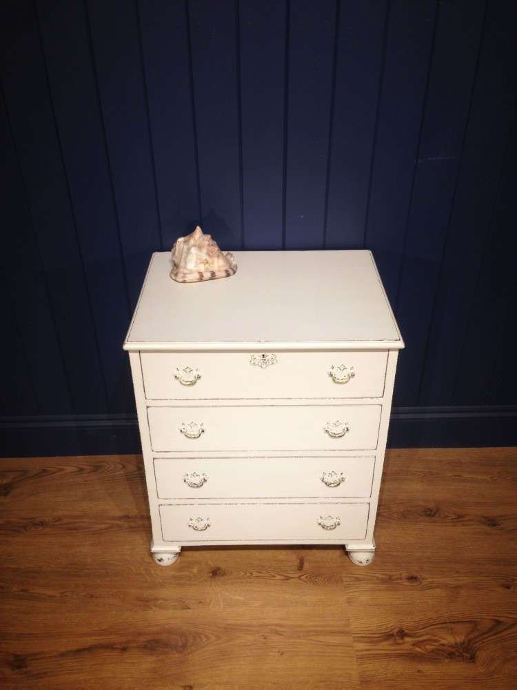 Mid Victorian Painted Mahogany Chest3