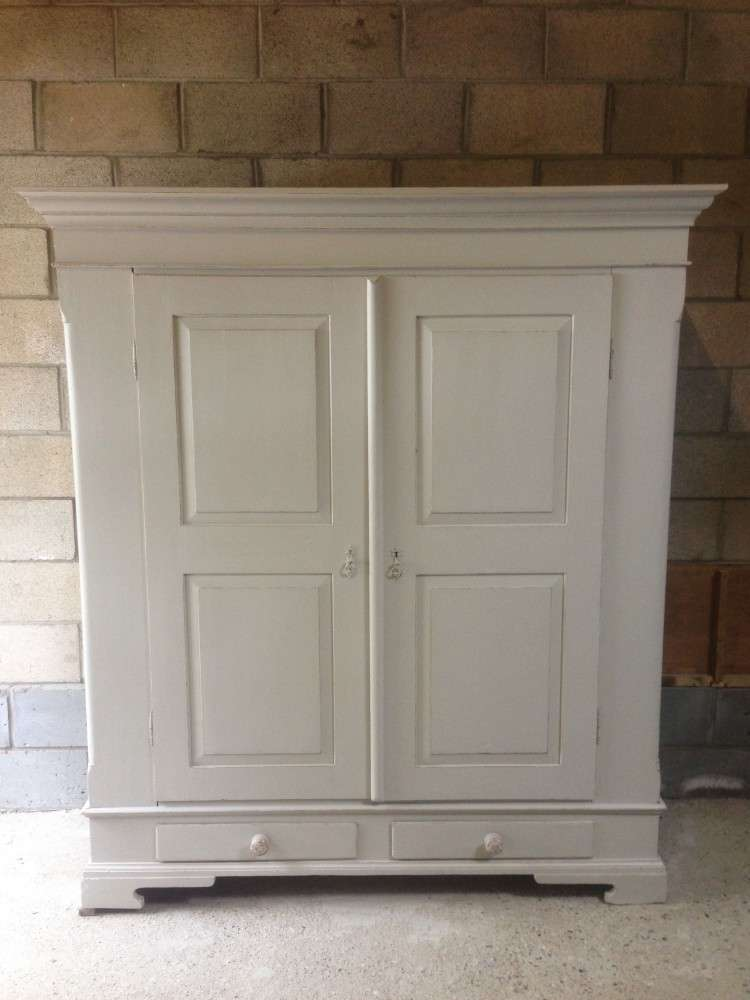French Painted Pine Wardrobe