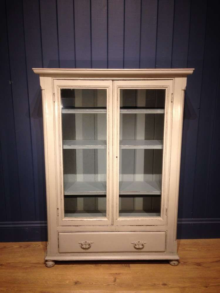 Mid Victorian Painted Pine Bookcase