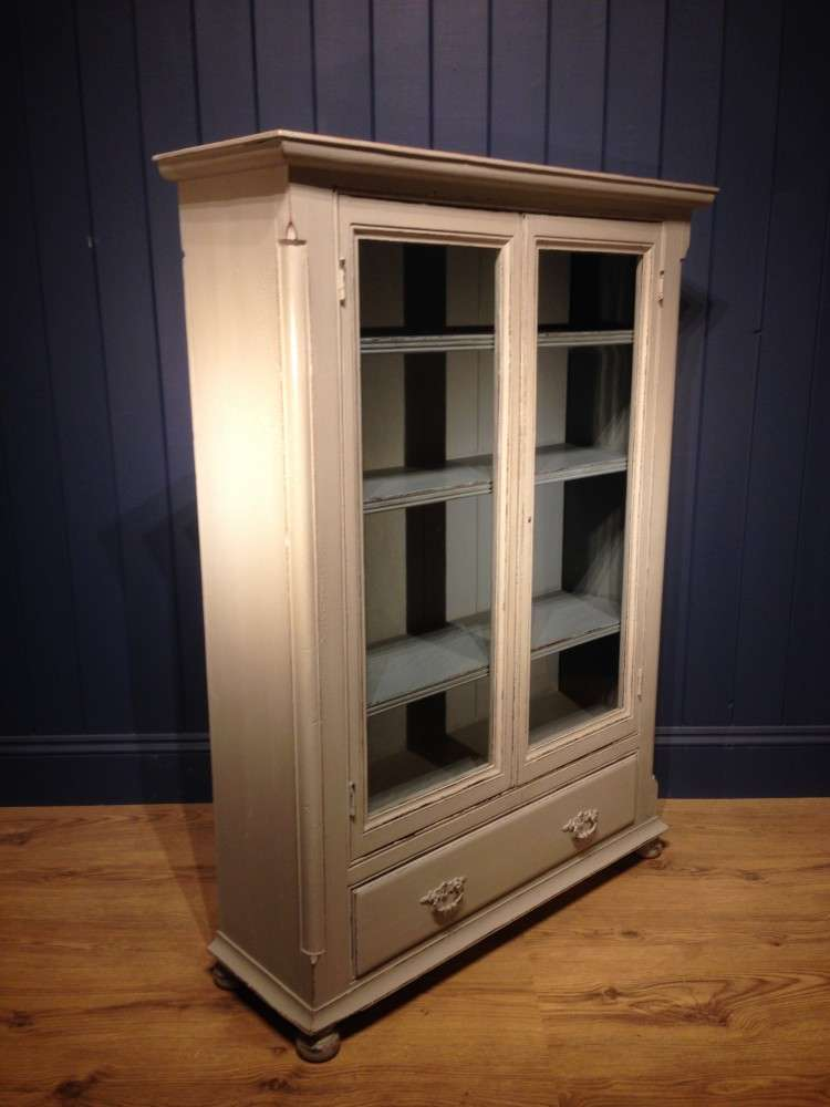 Mid Victorian Painted Pine Bookcase1