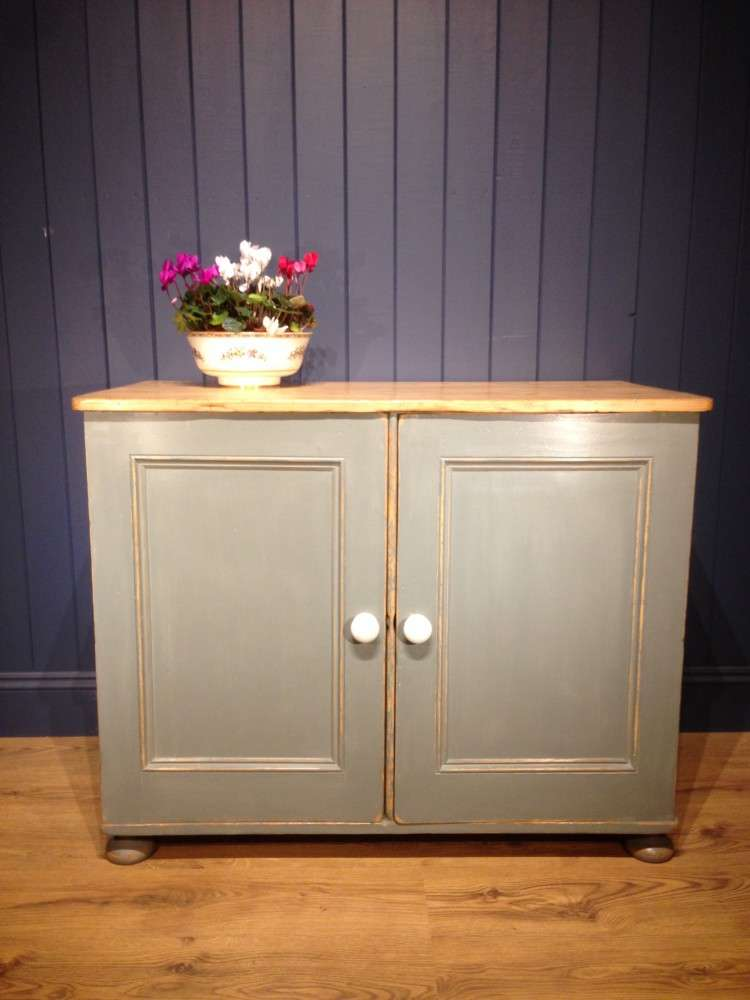 Victorian Painted Pine Kitchen Cupboard