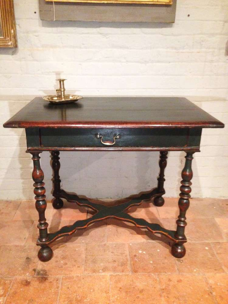19th Century Painted Oak Side Table