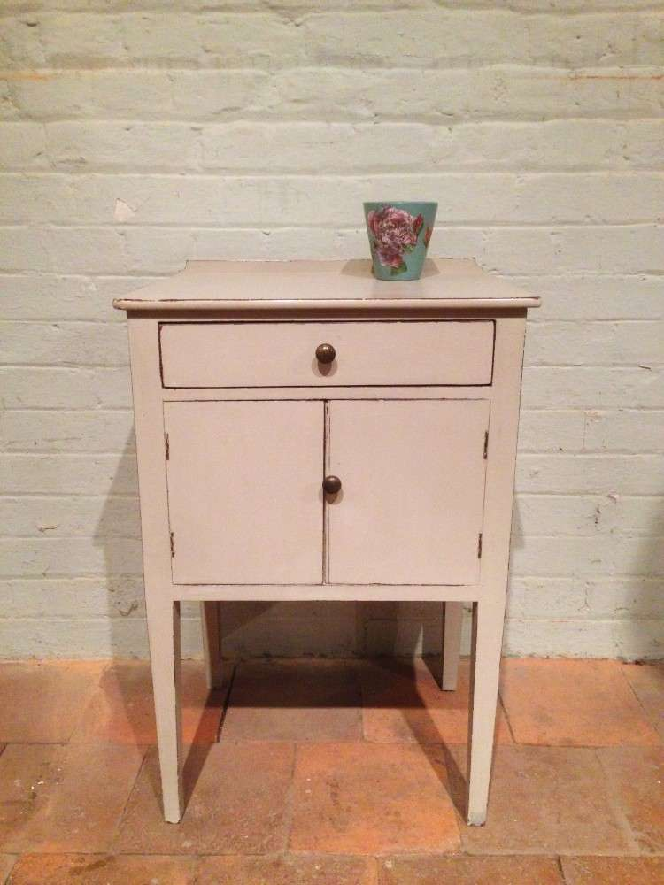 Georgian Painted Mahogany Bedside Cupboard