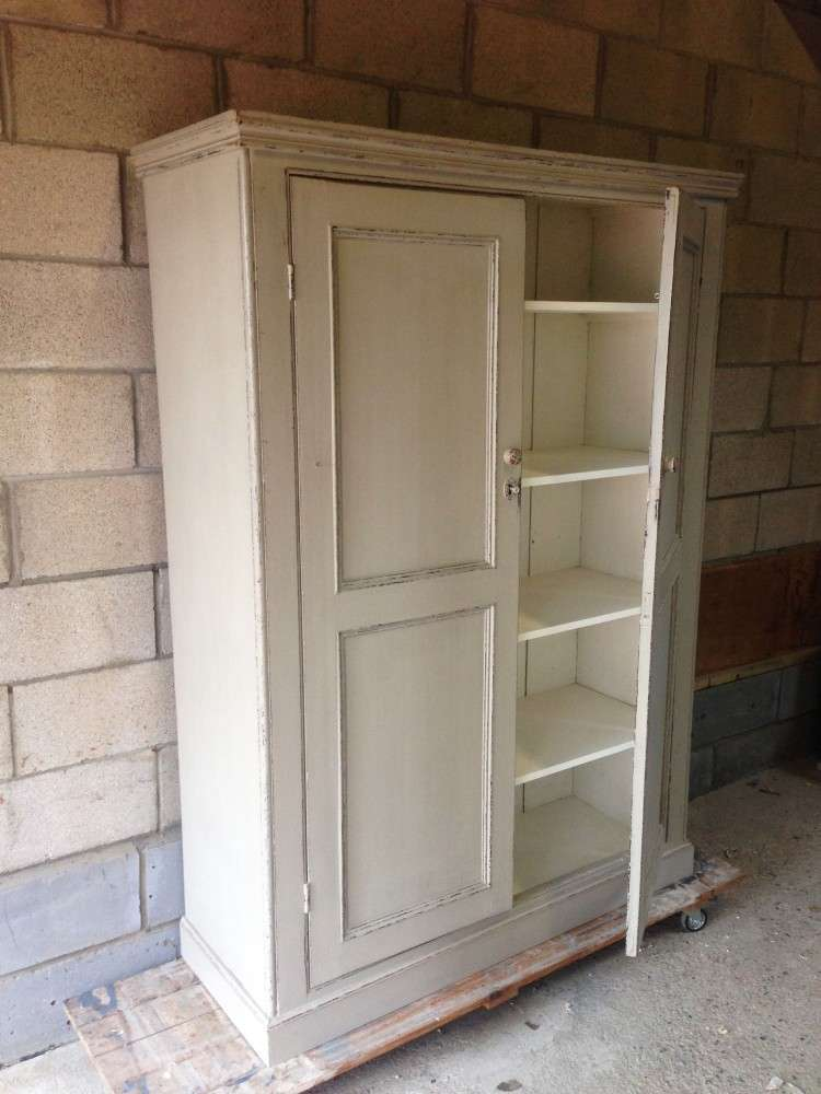 Early Victorian Painted Pine Housekeepers Cupboard4